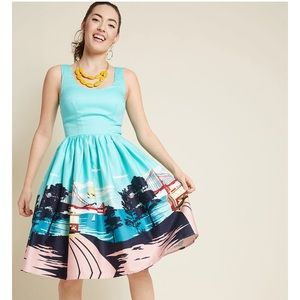 ModCloth Collectif x MC Golden State of Mind Dress